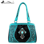 Montana West Spiritual Collection Cross Western Handbag Black MW273-8036