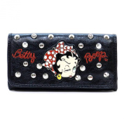 Betty Boop Black Dots Hairband Bow rhinestone L Wallet Chequebook