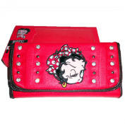 Betty Boop RED Dots Hairband Bow Strip Puff Rhinestone L Wallet Chequebook