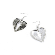 10 Pairs Jewellery Making Antique Silver Tone Earring Supplies Hooks Findings Charms T7XF2 Wings of Love Heart