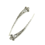 40 x Antique Silver Tone Jewellery Making Charms Findings Handmade Necklace Bracelet Bulk Lots Supplier Supply Crafting C2OJ0 Hairpin Hair Pin Bookmark