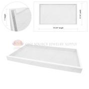 2.5cm White Plastic Display Tray Jewellery Hobby Storage Stackable Travel Organiser
