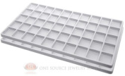 2 White Insert Tray Liners W/ 50 Compartments Drawer Organiser Jewellery Displays