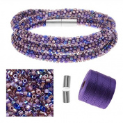 Refill - Beaded Kumihimo Wrap Bracelet Kit-Purple - Exclusive Beadaholique Jewellery Kit