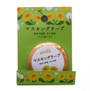 New Amifa Dandelion Tampopo Flower Collection Washi Masking Deco Tape Standard.
