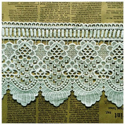Ivory 2 Yards Hollowed Weaven Cotton Lace Trim Dress Lace Sofa Sewing Lace 13cm Wide