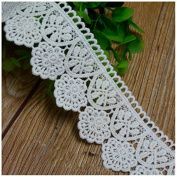 White 3 Yards Hollowed Cotton Lace Trim Dress Lace Craft Lace Sewing Lace 4.5cm Wide