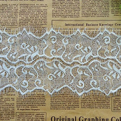 White 3 Yards Retro Eyelash Embroidered Lace Trim Dress Lace Bra Sewing Lace 12cm Wide