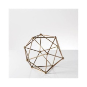 Torre & Tagus Polygon Antique Brass Decor Ball - Small