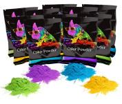 Holi Scented Colour Powder Yellow(Lemon),Blue(Blue Raspberry),Purple(Grape),Pink (Bubblegum),Green(Lime), Orange (Orange Cream) 70 gramme packets