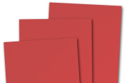 Blank Basis Red 5x7 Flat Card Invitations - 50 Pack