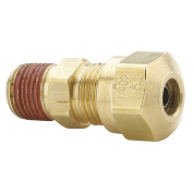Parker Hannifin VS68NTA-8-8 Brass Air Brake-NTA Male Connector Fitting, 1.3cm Compression Tube x 1.3cm Male Thread
