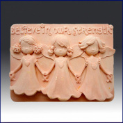 Believe in our Strength - Detail of High Relief Sculpture - Silicone Soap/polymer/clay/cold Porcelain Mould