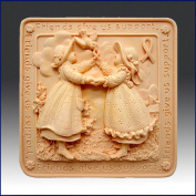 Friends Give Us Support - Detail of High Relief Sculpture - Silicone Soap/polymer/clay/cold Porcelain Mould