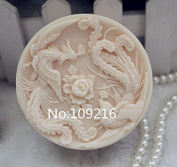 Creativemoldstore 1pcs Double Phoenix (ZX106) Craft Art Silicone Soap Mould Craft Moulds DIY Handmade Soap Mould