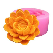 Lingmoldshop Flower C499 Craft Art Silicone Soap Mould DIY Candy Mould Craft Moulds Handmade Candle Moulds