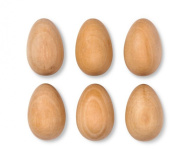 Natural Wood Crafting Eggs for Painting ,Drawing and Colouring 6 ct