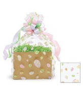 BundleOfBeauty Item# GH3830A 5pack Easter Eggs Designed Cello/cellophane Bags Gift Basket Packaging Bags Flat- 50cm X ""