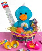 Veil Entertainment Easter Plush Duck 13pc Easter Basket Blue