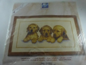 Vervaco Counted Cross Stitch kit - Puppies - New