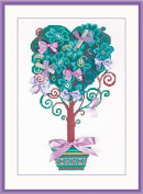 Riolis cross stitch kit 1462 Tree of Desires flowers STICKPACKUNG