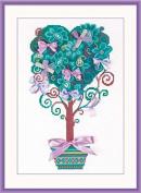 Riolis cross stitch kit 1462 Tree of Desires flowers STICKPACKUNG