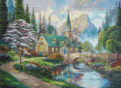 Church in the Forest Cross Stitch Pattern