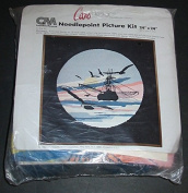 Shrimpers 60cm X 60cm Needlepoint Picture Kit