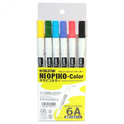 Derita alcohol marker Neopiko colour basic 6A set