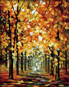 [Wooden Framed] 16*50cm Paint By Numbers Diy Oil Painting Famous Painting Collection