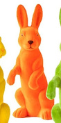One Hundred 80 Degrees Flocked Neon Colour Bunny Display Decoration