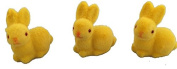 One Hundred 80 Degrees Flocked Colour 3.8cm Bunnies (Set/3)