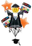 Veil Entertainment Congrats Grad 6pc Balloon Pack Orange
