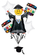 Veil Entertainment Congrats Grad 6pc Balloon Pack White