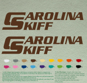 Pair of Carolina Skiff Boats Decals Vinyl Stickers Boat Outboard Motor Lot of 2