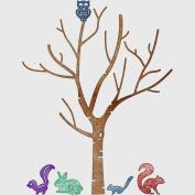 Cheery Lynn Designs B370 Birch Tree with Cute Critters Scrapbooking Die Cut