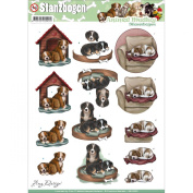 Find It Trading Amy Design Animal Medley Punchout Sheet-Dogs