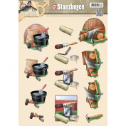 Find It Trading Amy Design It's A Mans World Punchout Sheet-Tools