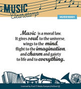 Find It Trading Clear Stamp 5.1cm x 7.6cm -Music Series