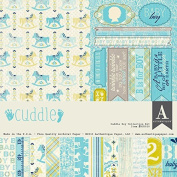 Authentique Cuddle Boy Baby Scrapbook Collection Kit