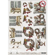 Find It Trading Amy Design Brocante Christmas Punchout Sheet-