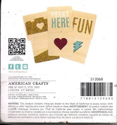 Heidi Swapp Project Life Glittered Wood Veneer Cards 312068 - 6 10cm x 10cm Cards
