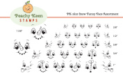 PK-1610 Snow Funny, Peachy Keen Stamps Clear Face Assortment