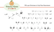 PK-1410 Christmas in July, Peachy Keen Stamps Clear Face Assortment