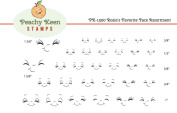PK-1500 Rosie's Favourites, Peachy Keen Stamps Clear Face Assortment