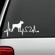 K1065 Cane Corso Heartbeat Lifeline Dog Decal Sticker