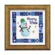 Orimupasu cross stitch embroidery kit Christmas Snowman mini amount with off-white X-81