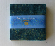 Artisan Spirit Shimmer Reflection Charm Pack, 13cm Squares, By Northcott, Cotton Fabric