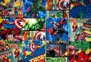 10 25cm Layer Cake Disney Licenced MARVEL Quilt Fabric Squares-5 DIFFERENT , 2 EACH