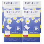 Natracare Normal Wrapped Panty Liners, 18 Count, 4 Pack